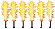 six flaming swords
